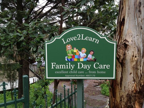 love2learn family day care sign danthonia designs usa