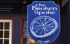 The Broken Spoke Pub Sign