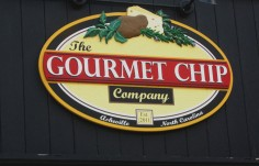 The Gourmet Chip Restaurant Sign