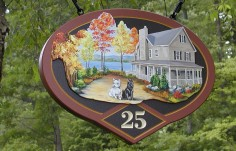 25 House Number Sign
