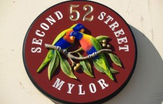 52 Second Street House Sign