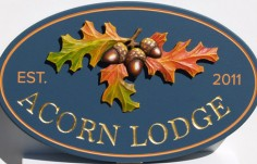 Acorn Lodge House sign