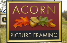 Acorn Picture Framing Business Sign