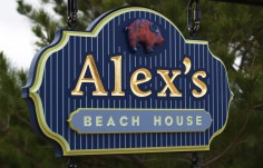Alex's Beach House Sign