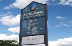All Hallows Church Message Board