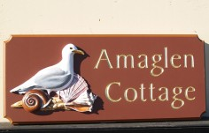 Amaglen Beach House Sign