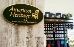 American Heritage Sign on location