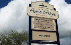 Amooran Oceanside Hotel Sign