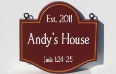 Andy's House Sign