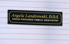 Angela Landrowski, DDS Dental Office Sign