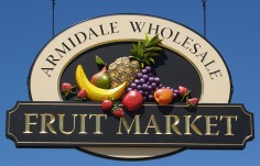Armidale Fruit Market Business Sign