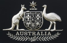 Australian Coat-of-Arms Crest Up Close