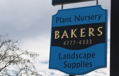 Bakers Landscape Supplies Business Sign