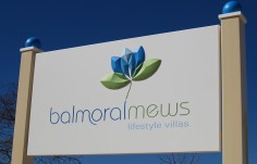 Balmoral Mews Retirement Village Sign