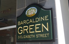 Barcaldine Green Apartment Sign 3
