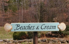 Beaches and Cream Quarterboard