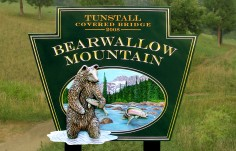 Bearwallow Mountain Park Sign