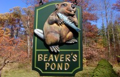 Beaver's Pond Property Sign