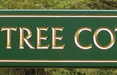 Beech Tree Quarterboard Sign