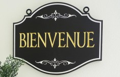 Bienvenue Welcome Sign