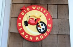 Big Wheel Beach House Sign