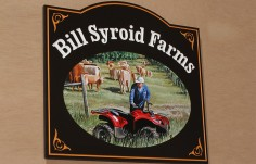 Billy Syroid Farms Sign