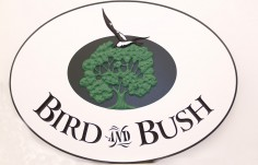 Bird and Bush Cafe Sign