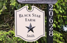 Black Star Farm Sign