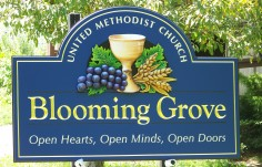 Blooming Grove Church Sign