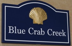 Blue Crab Creek House Sign