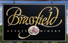 Brassfield Estate Winery Sign