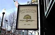 Brennan's Pub Sign on Site