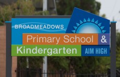 Broadmeadows Primary School Sign