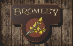 Bromley Family Name Sign