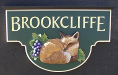 Brookcliffe House Name Sign