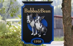 Bubba and Bean Pet Sign