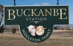 Buckanbe Station Farm Sign