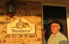 Bundarra House Sign with owner