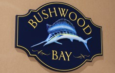 Bushwood Bay Fish Sign