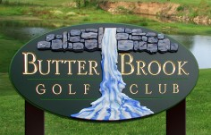 Butter Brook Golf Club Sign