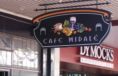 Cafe Midale Restaurant Sign