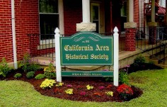 California Area Historical Society Club Sign
