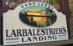 Camp Larby Lake House Sign