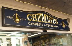 Campbell and Freebairn Chemists Sign