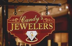 Candy's Jewelers Business Sign | Danthonia Designs