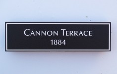 Cannon Terrace House Sign