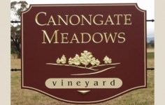 Canongate Meadows Vineyard Sign