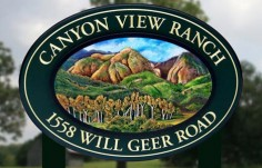 Canyon View Ranch Sign