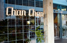 Chan Chan Restaurant Sign on location