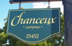 Chanceux Property  Sign